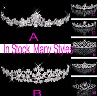 anchor stockings - In Stock Rhinestone Crystal Wedding Party Prom Homecoming Crowns Band Princess Bridal Tiaras Hair Accessories Fashion