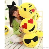 Wholesale 30cm Cushion Fashion Soft Emoji Pillow Cushion Smiley Emoticon Round Pillow And Cushion Stuffed Plush Toy Doll