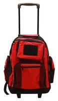 Wholesale Rolling Backpack Cute School Backpack Kids Backpack With Wheels red