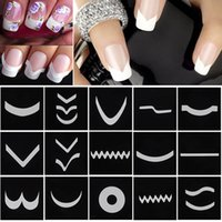 Wholesale Sheets Set French Manicure DIY Nail Art Tips Guides Stickers Stencil Strip M01615