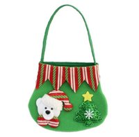 Wholesale 2016 creative four colors christmas gift bag candy bags decoration kids hand drawstring gifts snack cartoon packing