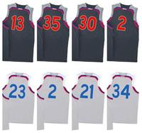 Basketball Unisex Short New 2017 All star basketball jerseys 100% stitched Men's #30 SC #35 KD #13 JH #2CL, #23 LBJ #2 KL #21JE #34 GA jerseys