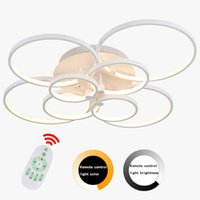 Wholesale Hot Selling Hot sale Ring LED Pendant Lamps Acrylic Chandelier Light Modern Pendant Lamp Circles different size position
