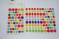 Wholesale Pentagram paper decorative laminated color love Rainbow love stickers w2