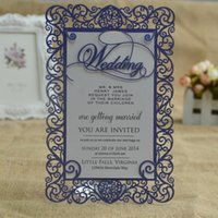 Wholesale Laser cut wedding invitation cards