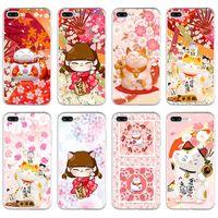Wholesale Fashion Fortune Cat Soft TPU phone case cover For iPhone5 s se S plus Splus plus cases