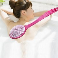 bath grip handles - New Scrubber Shower Bath Brush Helper Grip Handle Body Rubbing Comfortable Skin Health Care I069