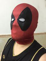 Costume Accessories Mask Free Size Deadpool Spandex Lycra Balaclava Hat Zentai Mask Hood Halloween Cosplay Headwear 3D print