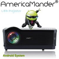 advertising bluetooth - quot Android WIFI Bluetooth Brightest Lux Full HD DLP Business Advertising Education D Projector Beamer Projektor Proyector