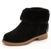 Wholesale Winter Women Boots Warm Flock Shoes Woman Platform Ankle Snow Boots Casual Slip On Flats Women Shoes