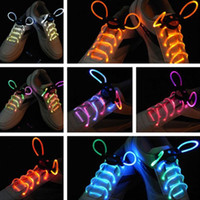 30pcs (15 paires) 2017Fashion LED Chaussures Chaussures Luminaires Flash Light Up Glow Stick Strap Flat Shoelaces Disco Party Chaussures Accessoires