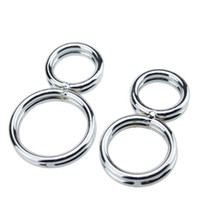 Wholesale shaped Cock Ring Twisted Penis Chastity Device Prevent the erection Stainess Steel Male Slave Bondage Set for men