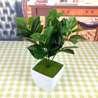 artificial tropical plants - Export Mint leaves The leaf of Rhododendron Ocean of grass Red leaf flower flowers Single tropical plant emperor flower No flower pot