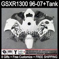 Wholesale gloss white gift For SUZUKI Hayabusa GSXR1300 MY33 GSXR GSX R1300 GSX R1300 white black Fairing