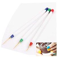 Wholesale 3PCS Nail Art Design Set Dotting Painting Drawing Brush Pen Tools for Women Beauty Nail art Equipment