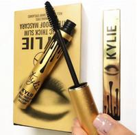 Wholesale 2016 Hot Sale Gold Kylie Jenner Mascara Magic Lengthening Thick Slim Waterproof Black Eye Cosmetic Charming Long Eyelash Makeup