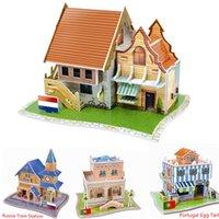 Wholesale Castle Toy For Girls - 3D Puzzles Dimensional Children Puzzle Paper Model Children's Educational Toys for Kids Puzzle Castle House