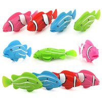 Wholesale Swimming Robot Fish Activated in Water Magical Simulation Plastic Electronic Toy Kids Children Gift