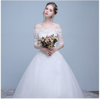 Wholesale 2016 new lace long tail tail word dress Slim wedding dress