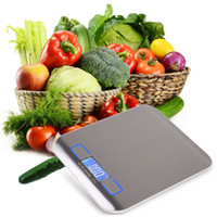 Wholesale 11LB g Digital Scale Kitchen Cooking Measure Tool Stainless Steel Electronic Weight LED Electronic Bench Scale Weight Overload Promption