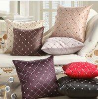 Home Sofa Throw Travesseiro Plaid Geometric Throw Cobertura de almofada de tecido Cobertura bordada 43 * 43CM Decorative grade Pillow Case Decor