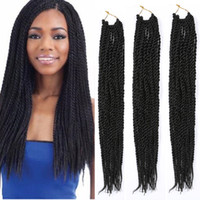 Wholesale Crochet Synthetic Weaves Braiding Hair Extensions Senegalese Faux Locs Twist Braids Hairstyle Black Havana Mambo Braiding Hair Extensions