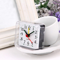 Wholesale 1Pc New Home Outdoor Portable Cute Mini Cartoon Multi function Trip Bed Beep Desktop Alarm Clock Mini Portable Table Clocks