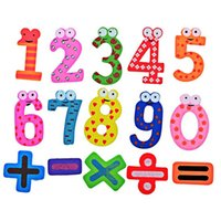 Wholesale Wooden Numbers Block Math Toy Magnet Fridge Sticker Baby Educative Math Toys Use on Refrigerator Message Board