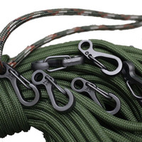 Wholesale 100 Mini SF Spring Backpack Clasps Climbing Carabiners EDC Keychain Camping Bottle Hooks Paracord Tactical Survival Gear
