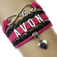 avon jewelry - Pieces Infinity Love Avon Heart Charm Wrap Bracelet Hot Pink Black Multilayer Leather Cuff Wrist Band Jewelry