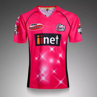 Wholesale Top thailand quality Australia Sydney Sixers Men s On field Shirt Sydney Sixers cricket Jersey Sydney Sixers BBL cricket Jerseys