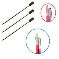 Wholesale Inch cm Crystal Diamond Gel Ink Pen refills for Swarovski Ballpoint Pens Stylus Pens Black Blue ink