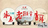 Wholesale King Tea CC BindDao g LaoBanZhang g XiGui g yrs Old Tree Spring Leaf Cake YunNan Puerh Raw Tea Sheng Cha