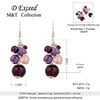 beauty beaded dangle - Hot Fashion Sweet Beauty Crystal Beaded Style Earrings Accessories