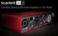 Wholesale 2017 New FOCUSRITE Scarlett i2 nd gen in out USB Guitar recording audio interface USB2 sound card