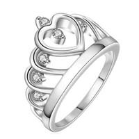 Wholesale Kepler Z12 Crown princess fashion silver rings The personality Jewelry Fashion
