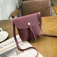 Wholesale Japan and South Korea new simple tassel mini bag small handbag wallet small Messenger bag