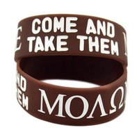 benefit shipping - Shipping Molon Labe Come And Take Them Silicone Wristband Perfect To Use In Any Benefits Gift