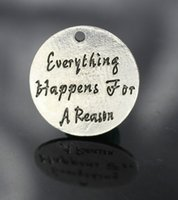 beads reason - Lead Free and Nickel Free mm Everything happens for a reason Antique Silver Plating Alloy DIY Charms