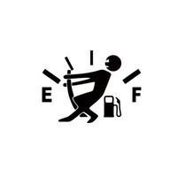 achat en gros de fenêtre autocollant de vinyle drôle-2017 Hot Sale Personnalité Haute Consommation de Gaz Autocollant Fuel Gage Empty Funny Car Vinyle Autocollant Fenêtre Jdm Car Stying