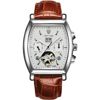 background business - Fashion Top Luxury Hollow Automatic mechanical Watches Men s Transparent Background Leather Band Business watch Men Casual wristwatches