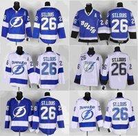 bay c - Men Tampa Bay Lightning Ice Hockey Jersey Martin St Louis Blue White Black C Patch Stitched Jerseys