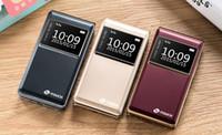 Nouveau téléphone T5 2,8 pouces écran double écriture flip carte double machine d'affaires longue attente avec des vibrations