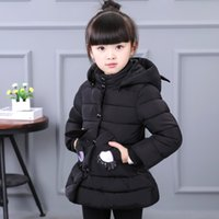 Wholesale Girls cotton padded clothes more new winter long cotton padded jacket baby children children s clothing han edition coats were