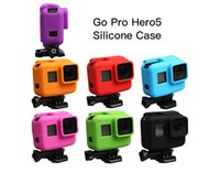 Wholesale Colorfuly silicone Cover Side Frame Protective Case for Go Pro Hero Hero5 Housing Protective Case Cover Shell Accessories Soft Rubber Skin