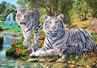 animal tigre - DIY Diamond Embroidery Painting Rhinestone Pasted Diamond Cross Stitch Tool Kits Animal Tigre Painting Mosaic Embroidery A2750
