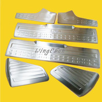 Wholesale 6pcs set Accessories Stainless Steel Threshold Welcome Strip Pedal Protective Decorative Fit For Land Rover Freelander