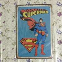 Bonne qualité superman superhéros Vintage décoratifs artisanat Tin Sign Rétro peinture en métal Antique Affiche Bar Pub Signs Wall Art