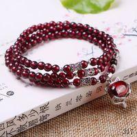 amethyst wine - Natural wine red garnet bracelet crystal jewelry