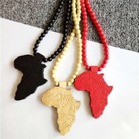 wood best hip hop jewelry - Africa Continent Necklace GOOD WOOD Hip hop Beads Wooden Pendant Necklaces Fashion Jewelry Best Gift